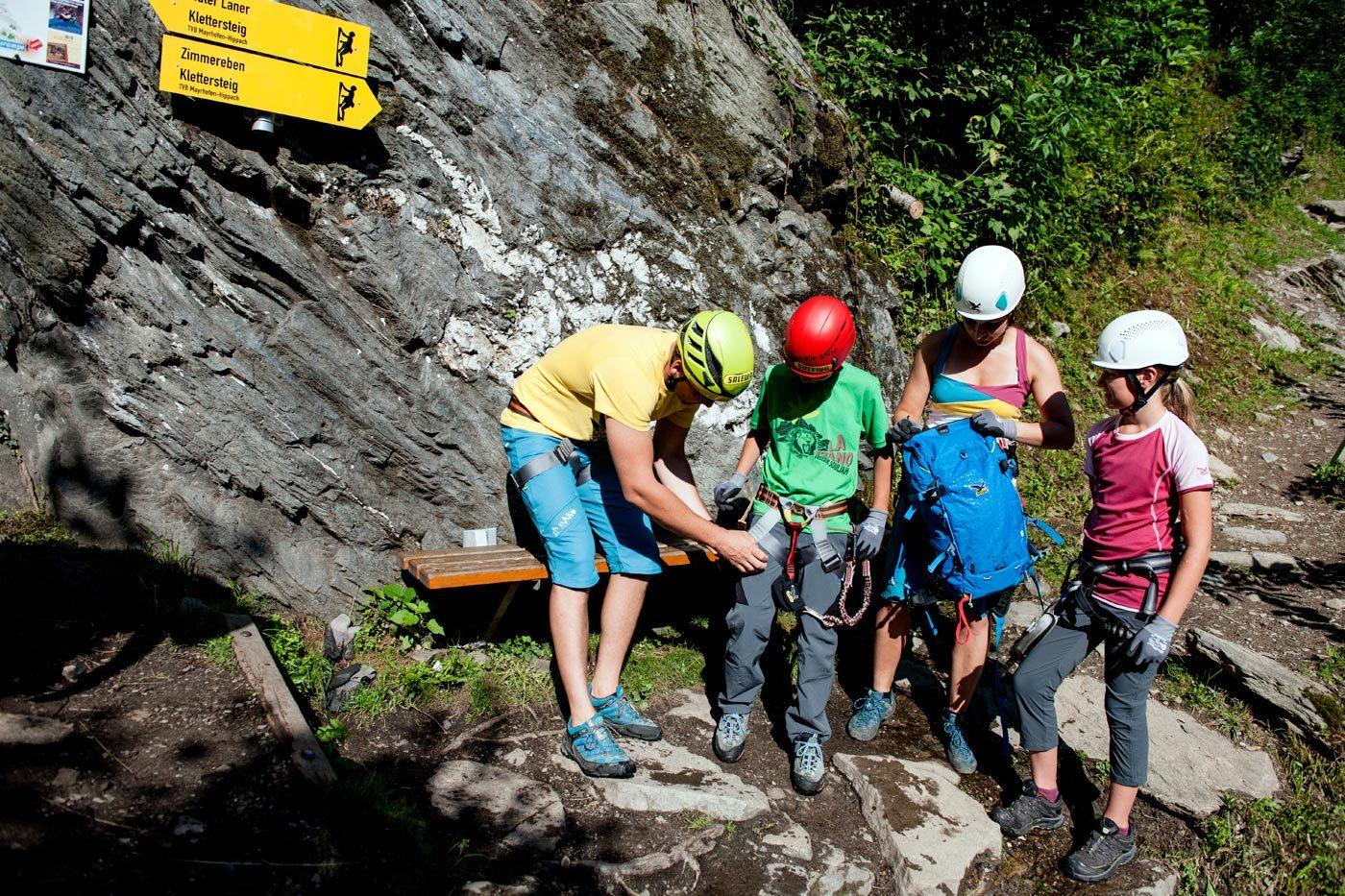Klettersteig Huterlaner : Familienklettersteig · mayrhofen mountainshop hörhager
